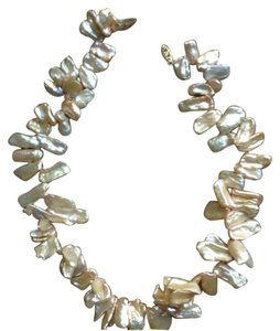 Real Freshwater Pearl necklace bronze. Authentic Fresh Water Pearls