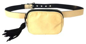 Sonia Rykiel Sonia Rykiel Cream Leather Belt with Fanny Pack