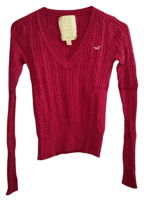 Hollister Cable Longsleeve V-neck Sweater