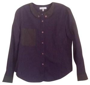 See by Chloé Button Down Shirt Navy blue and green