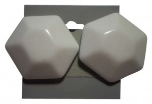 Other Vintage white lucite button pierced earrings