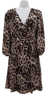 Diane von Furstenberg Dvf Leopard Cheetah Silk Dress