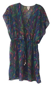 MILLY Milly purple patterned sheer cover up.