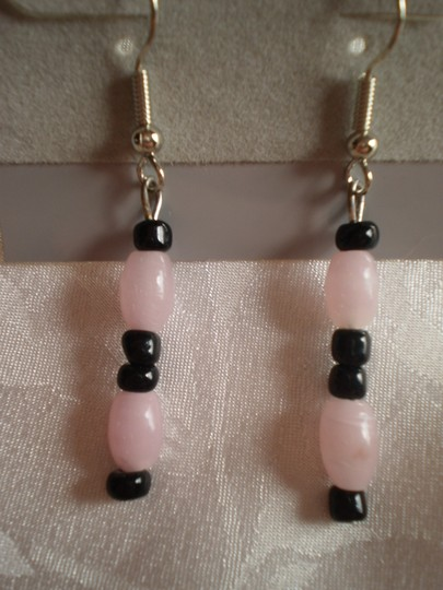 Preload https://item4.tradesy.com/images/black-and-pink-new-dangle-earrings-151828-0-0.jpg?width=440&height=440