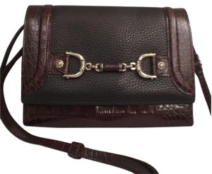 Brighton Leather Alligator Cross Body Bag
