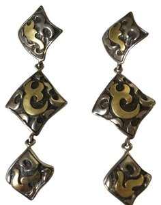 John Hardy John Hardy Sterling Silver & 22K Gold Drop Earrings