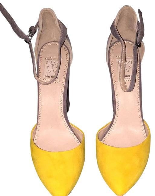 Item - Grey Yellow Purple Pumps Size US 8