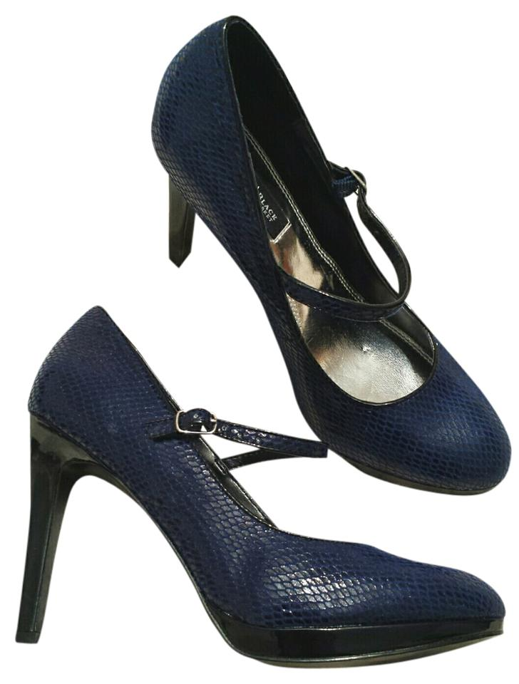 2861d5978bf White House   Black Market Navy (7.5) Sexy Faux Snakeskin Mary Janes Pumps  Size US 7.5 Regular (M, B) 82% off retail