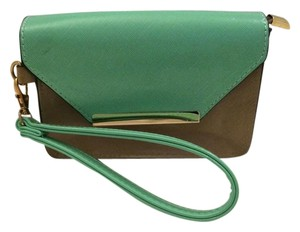 Other Wristlet in Teal, Tan