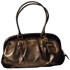 Prada Vintage Leather Satchel in Bronze