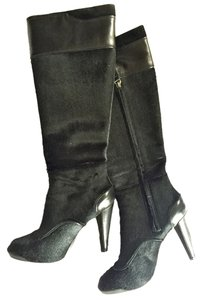 Tod's Tods Leather Pony Black Boots