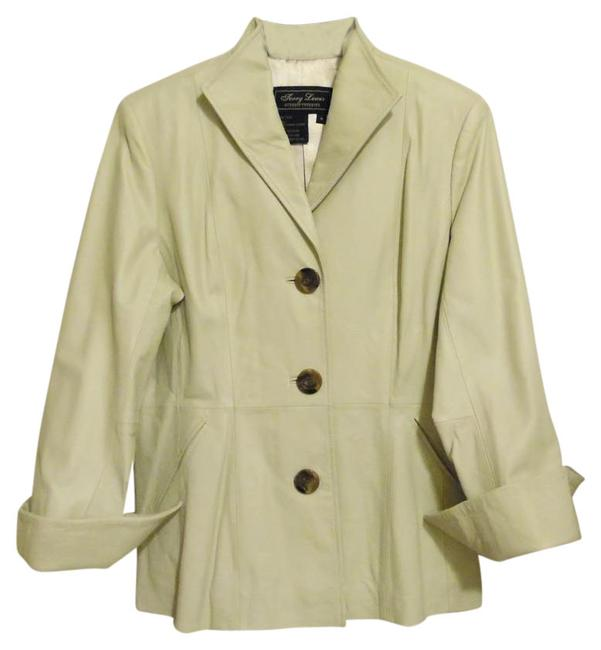 Terry Lewis Classic Luxuries Cream Leather Jacket