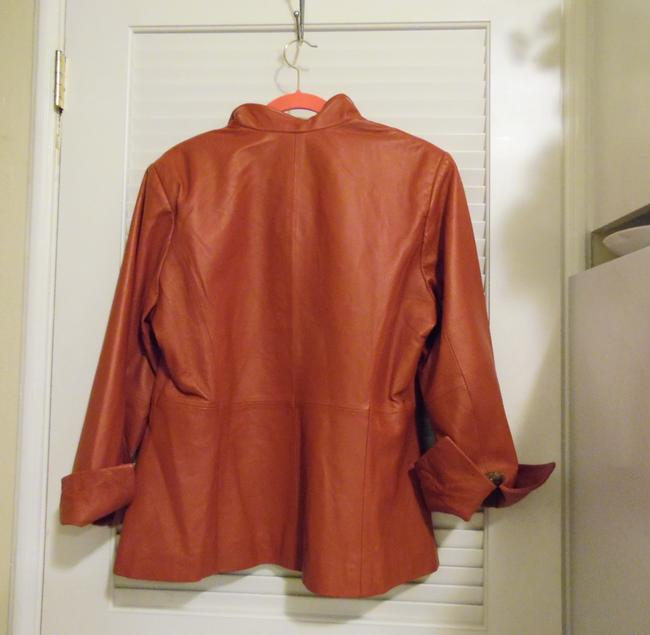 Terry Lewis Classic Luxuries Red Leather Jacket