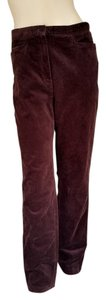 Jones New York Corduroy Straight Pants Brown