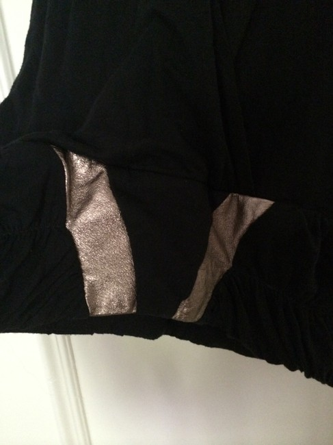 sass & bide Cut-out Faux Leather Top Black