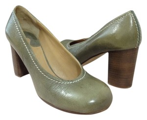 Chloe Mossy Green/Grey Pumps