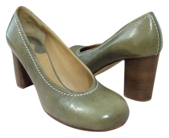 Chloé Mossy Green/Grey Pumps
