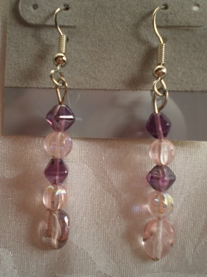 Other New Pink & mauve dangle earrings