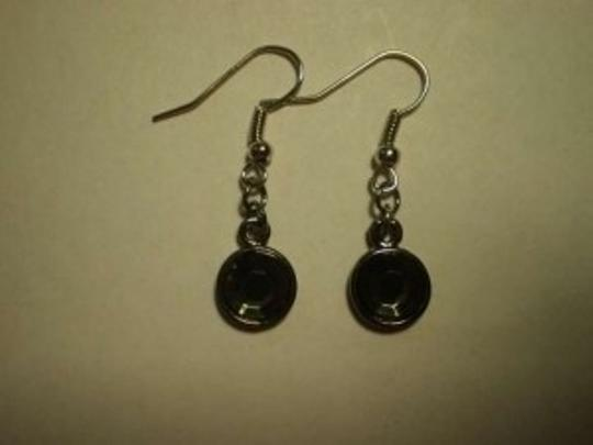 Handmade New Silvertone rhinestone dangle earrings