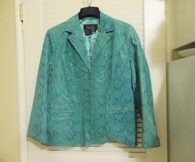 Terry Lewis Classic Luxuries Teal Blazer