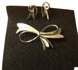 Vintage Sterling Silver Brooch and Earring Set.