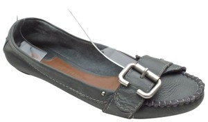 Chloé Loafer Moccasin Leather Silver Grey Flats
