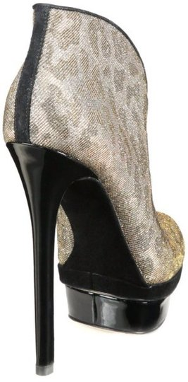 Brian Atwood Silver And Black Boots