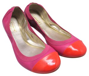 Coach Nappa Leather Ballet Patent Pink Flats