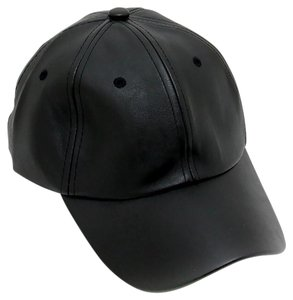Modern Edge Solid faux leather baseball cap