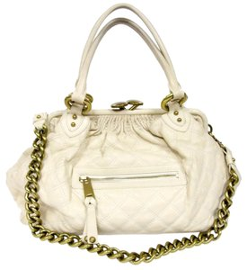 Marc Jacobs Chanel Vuitton Louis Satchel in Off White
