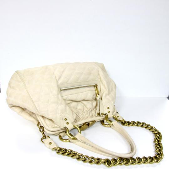 Marc Jacobs Chanel Vuitton Louis Neverfull Lambskin Satchel in Off White