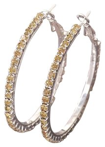 Other New Champagne Pave CZ Stones & 9k White Gold Filled Earrings