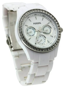 Fossil Fossil Women's Stella Multifunction White Chronograph Resin Watch 36mm