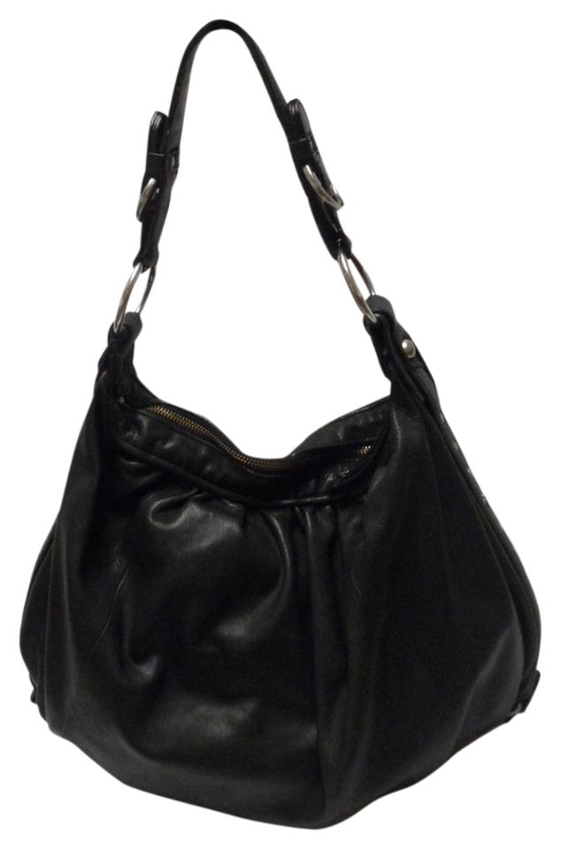 150dcc86c Juicy Couture Shoulder Large Black Leather Hobo Bag - Tradesy