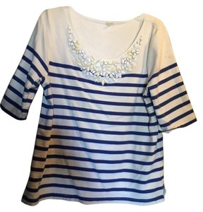 J.Crew Top blue and white stripes