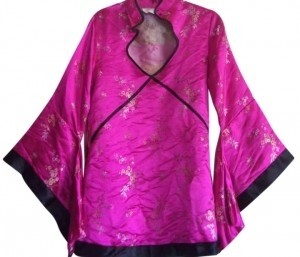 Unknown Floral Flowy Costume Robe Traditional Sparkle Tunic