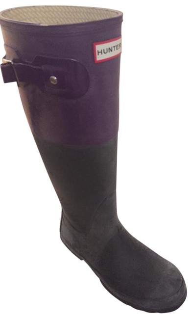 Item - Navy and Purple Boots/Booties Size US 6 Regular (M, B)