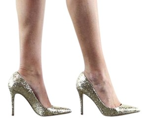 BCBGeneration Bcbg High Heels Heels Glitter Gold Pumps