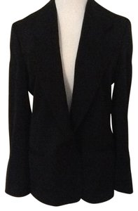 Giorgio Armani Silk Cotton Made In Italy Black Blazer