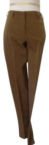 Prada Nylon Spandex Polyester Dry Clean Made In Italy Straight Pants Beige tan