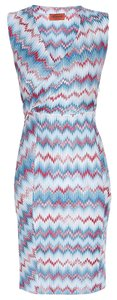 Missoni Zigzag Wrap Sleeveless V-neck Dress