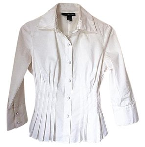 Grace Elements Button Down Shirt White