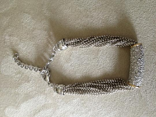 Boutique stunning crystal and silver chain bracelet