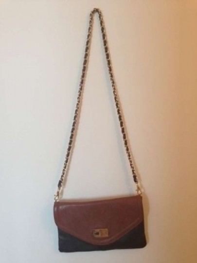 ALDO Two Tone Faux Leather Exterior Leopard Print Interior. Gold Accents. Cross Body Bag