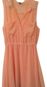 Divided by H&M short dress Peach on Tradesy