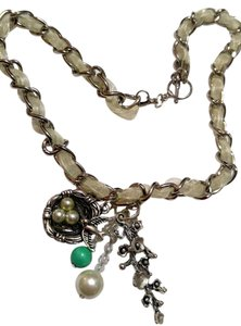 New Bird Nest Pearl Turquoise Gemstone Charm Necklace J2499
