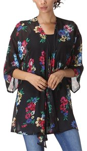 LARA FASHION Kimono Boho Floral Sheer Open Cardigan