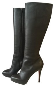 Christian Louboutin Knee High Classic Chocolate Brown Boots