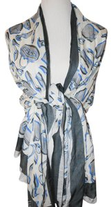 Moschino MOSCHINO CHEAP AND CHIC ITALY GREY BLUE WOMEN OBOLONG SCARF