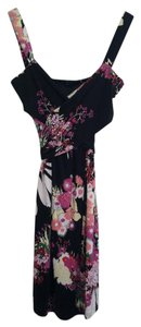 Elie Tahari short dress Black Pink Floral on Tradesy